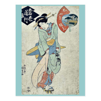 por Utagawa, Toyokuni Ukiyo-e. Postal