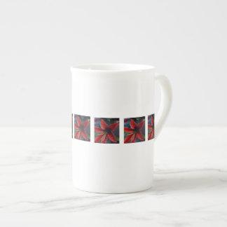 Porcelana de hueso de la impresión del lirio taza de porcelana