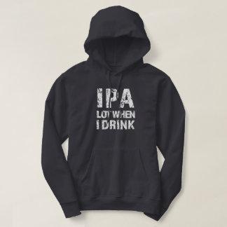 Porción de IPA cuando bebo el suéter para hombre