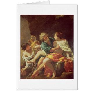 Porción y sus hijas, c.1630 (aceite en lona) felicitación