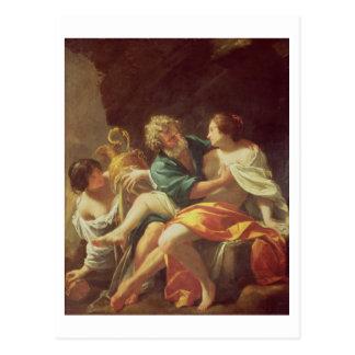 Porción y sus hijas, c.1630 (aceite en lona) postal
