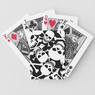 Porciones de cráneos baraja de cartas bicycle
