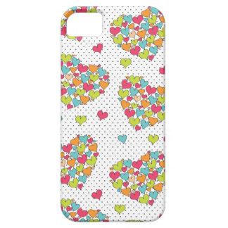 Porciones de diversión de los corazones y colorido iPhone 5 Case-Mate cárcasas