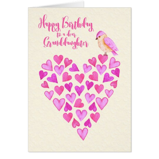 Porciones de la nieta del feliz cumpleaños de amor tarjeta de felicitación