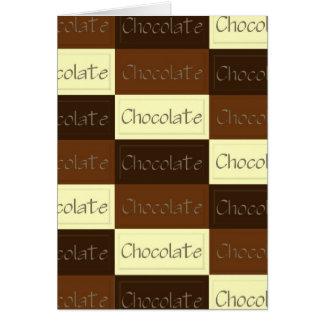 Porciones de tarjeta del chocolate