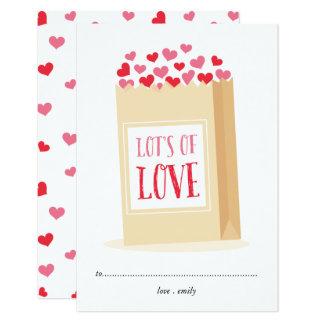 Porciones de tarjeta del el día de San Valentín de Invitación 8,9 X 12,7 Cm