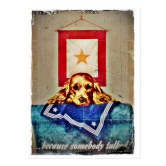 Porque alguien habló un perrito triste WWII Tarjetas Postales