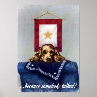 Porque alguien habló -- WW2 Poster
