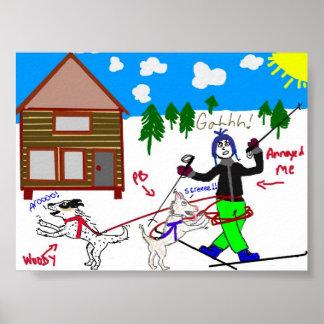 ¡Porqué AMAMOS el skijoring Posters