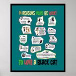 Porqué es afortunado amar un gato negro impresiones