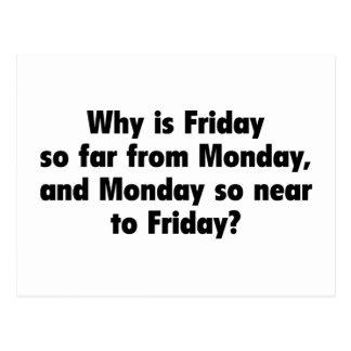 Porqué está viernes hasta ahora de lunes, y del Ne Postal
