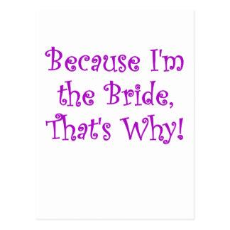 Porque Im la novia que es por qué Postal