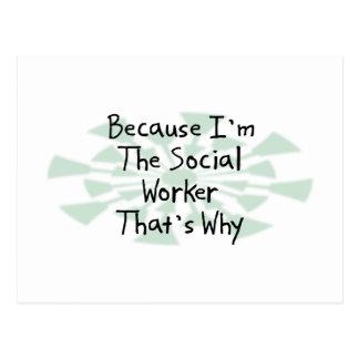 Porque soy el asistente social postal