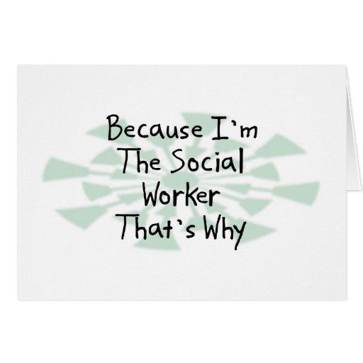 Porque soy el asistente social felicitacion