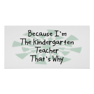 Porque soy el maestro de jardín de infancia poster