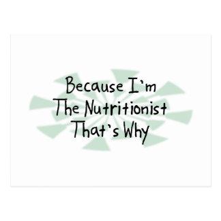 Porque soy el nutricionista postal