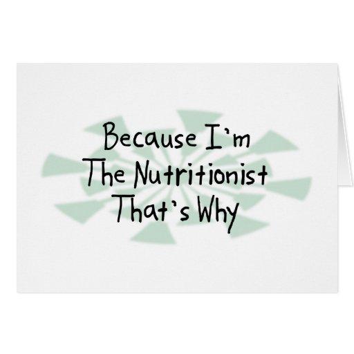 Porque soy el nutricionista felicitacion