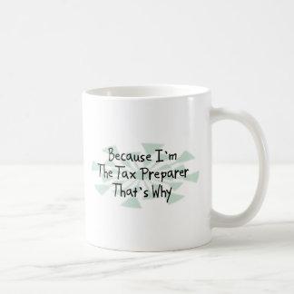 Porque soy el preparador de impuesto taza de café