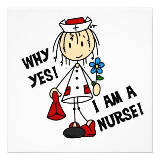 Porqué soy sí enfermera invitaciones personalizada