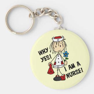 Porqué soy sí enfermera llavero
