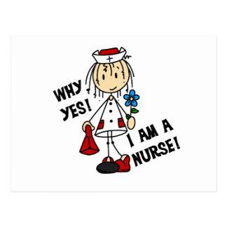 Porqué soy sí enfermera tarjeta postal