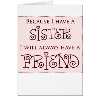 Porque tengo una hermana felicitaciones