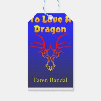 """Portada de """"para amar un dragón. """" etiquetas para regalos"""