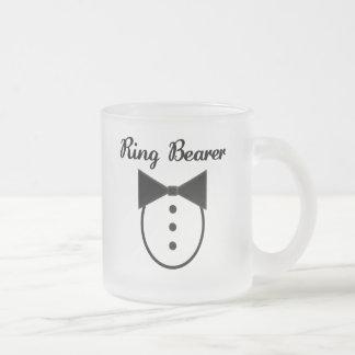 Portador de anillo taza de cristal