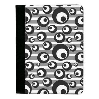 Portafolios Rayas blancos y negros de los círculos geométricas