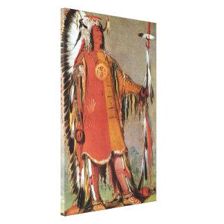 Portait del jefe indio Mato-Tope de George Catlin Impresión En Lienzo
