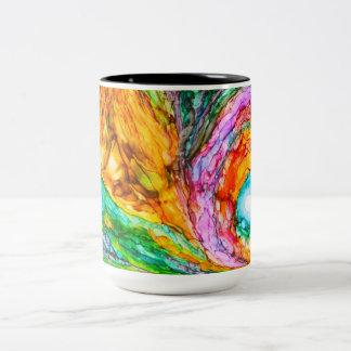 Portal con tiempo taza de café de dos colores
