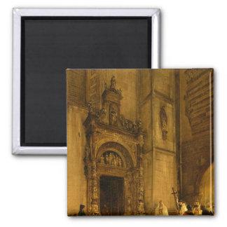 Portal del lado de la catedral de Como, 1850 Imán Para Frigorifico