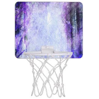 Portal mágico en el bosque minicanasta de baloncesto