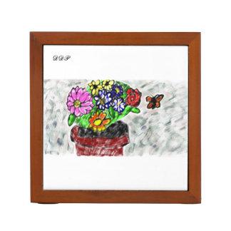 Portalápices florece arte