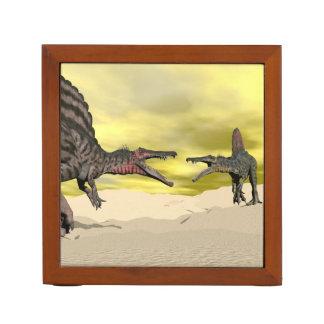 Portalápices Lucha del dinosaurio de Spinosaurus - 3D rinden