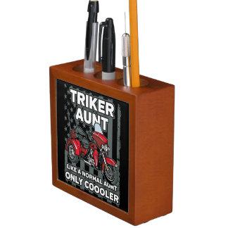 Portalápices Tía de Triker de la motocicleta