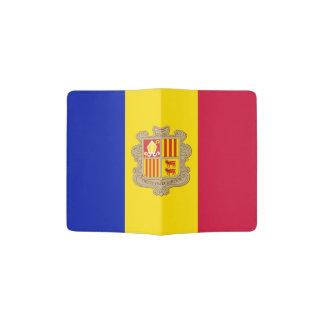 Portapasaportes Bandera patriótica de Andorra