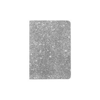 Portapasaportes Chispas de plata del brillo