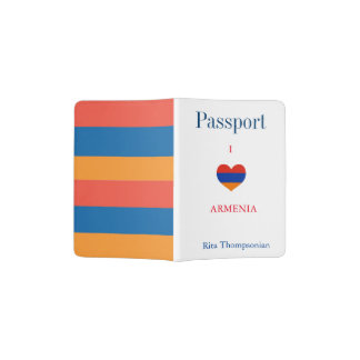 Portapasaportes El armenio colorea el tenedor del pasaporte del |