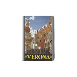 """Portapasaportes Protector del pasaporte de """"Verona"""" del vintage"""