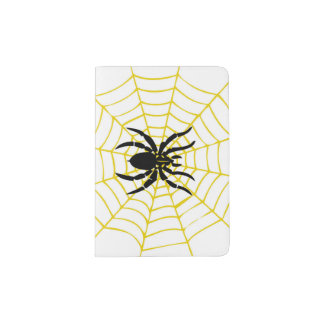 Portapasaportes tenedor del pasaporte de la araña