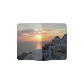 Portapasaportes Tenedor del pasaporte de la puesta del sol de