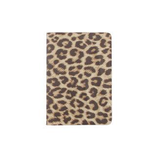 Portapasaportes Tenedor del pasaporte del estampado leopardo