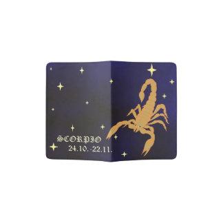 Portapasaportes Tenedor del pasaporte del zodiaco del escorpión