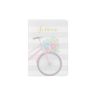 Portapasaportes Tenedor lindo del pasaporte de la bicicleta de la