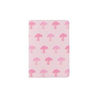 Portapasaportes Tenedor rosado del pasaporte de la seta