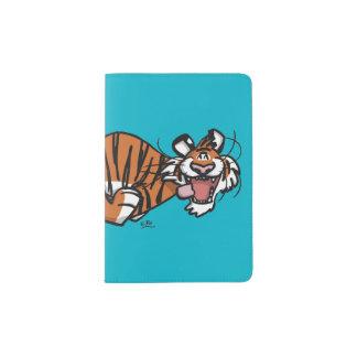 Portapasaportes Tigre corriente del dibujo animado