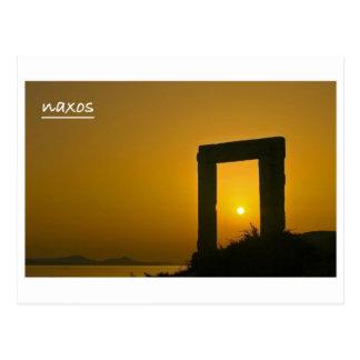 Postal Portara, templo de la postal de Apolo - de Naxos
