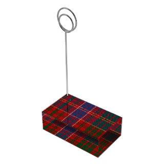 Portatarjetas de la tabla de la tela escocesa de soportes de tarjeta de mesa