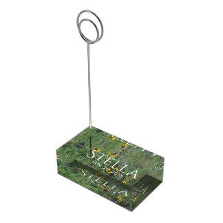 Portatarjetas de la tabla del campo de flor soportes para tarjetas de mesa